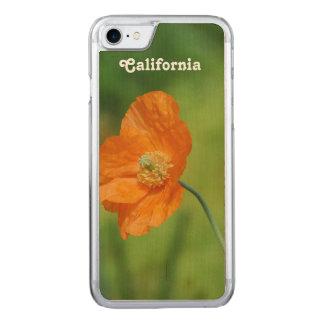 Orange California Poppy Carved iPhone 8/7 Case