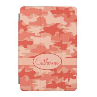 Orange Camo Camouflage Name Personalized iPad Mini Cover