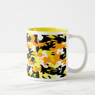 Orange Camo Mug