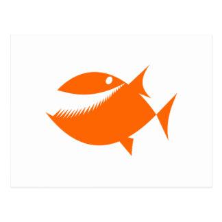 Orange Cartoon Fish Postcard