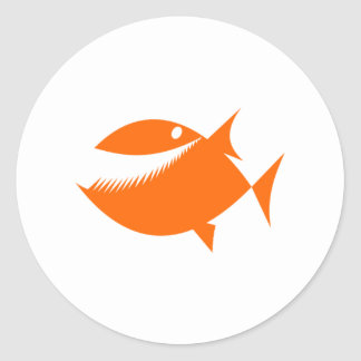 Orange Cartoon Fish Stickers