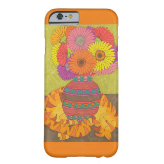 Orange Cat with Vase of Gerbera Daisies Barely There iPhone 6 Case