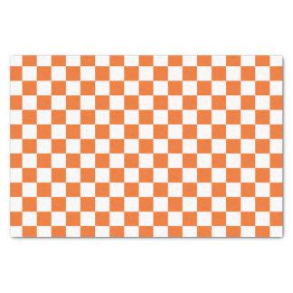 Orange Checkerboard Tissue Paper