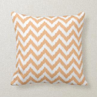 Orange Chevron Ikat Pattern Cushion