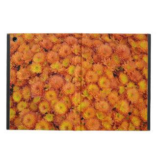 Orange chrysanthemums print ipad case