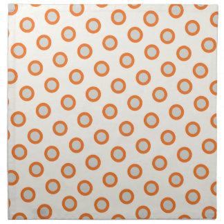 Orange Circle Dot Retro Design Napkin