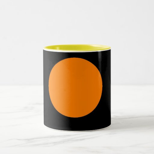 Orange Circle on Black Mug