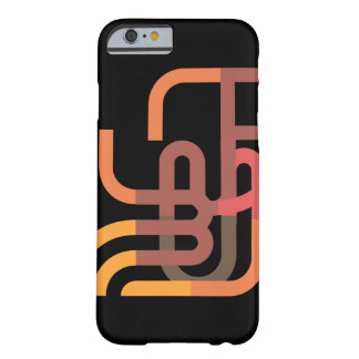 Orange Circuit Barely There iPhone 6 Case