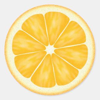 Orange Citrus Fruit Classic Round Sticker