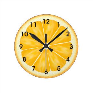 Orange Citrus Fruit Slice Clocks