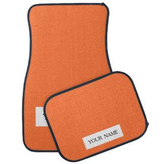 Orange Classic Colored Car Mat