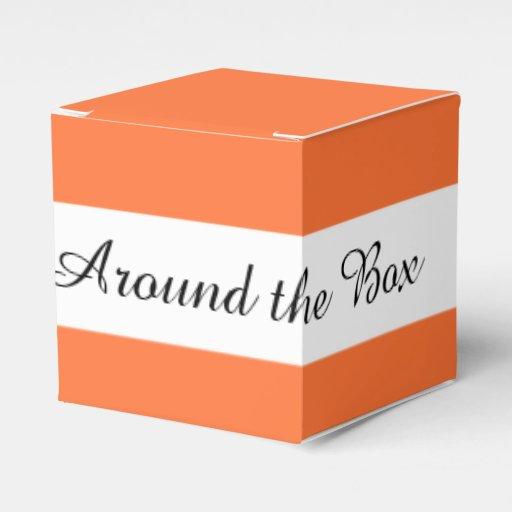 Orange Classic Colored Party Favor Box