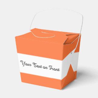 Orange Classic Colored Party Favor Boxes