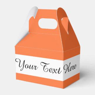Orange Classic Colored Favor Boxes