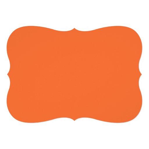Orange Classic Colored Card