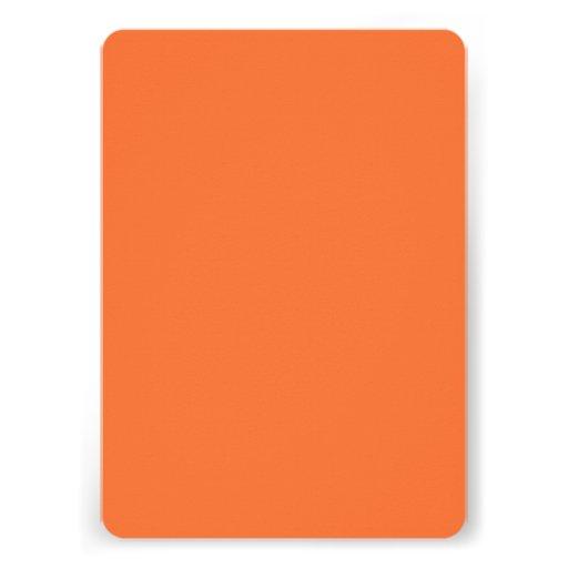 Orange Classic Colored Custom Announcements