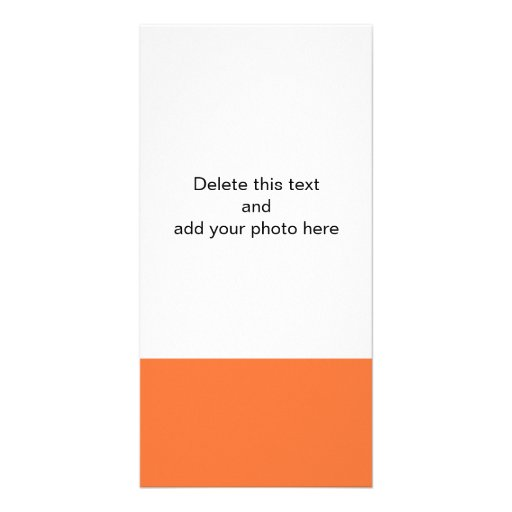 Orange Classic Colored Personalized Photo Card