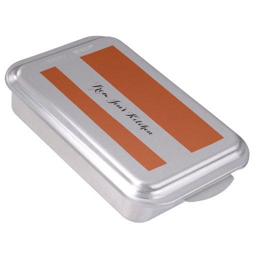 Orange Classic Colored Cake Pan
