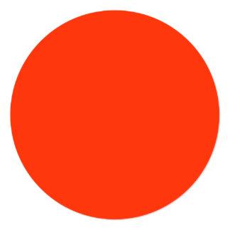 Orange Color 13 Cm X 13 Cm Square Invitation Card