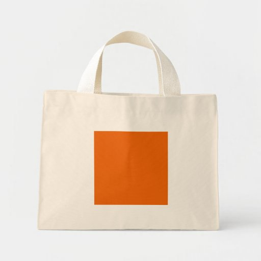 Orange Color Canvas Bag