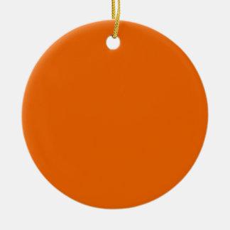 Orange Color Circle Christmas Tree Ornaments