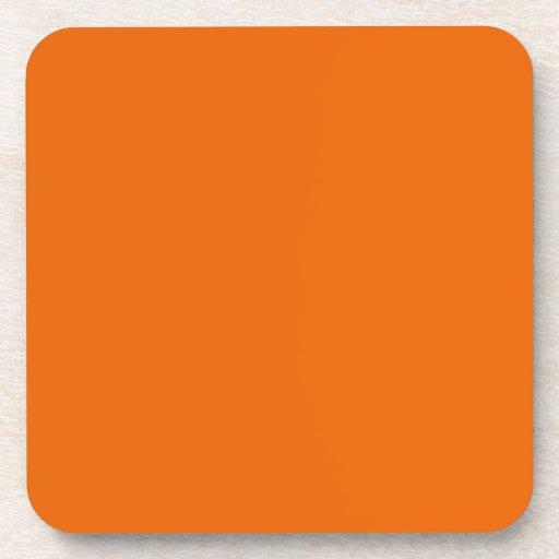 Orange Color Cork Coasters