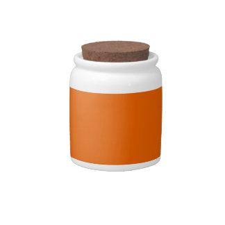 Orange Color Jar Candy Dishes