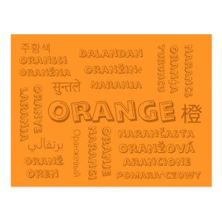Orange - Color Languages on Postcards
