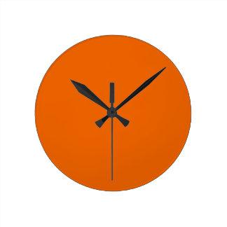 Orange Color Medium Round Wall Clocks
