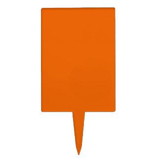 Orange Color Rectangle Rectangle Cake Topper