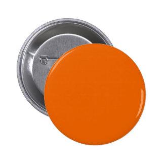 Orange Color Round Pinback Buttons