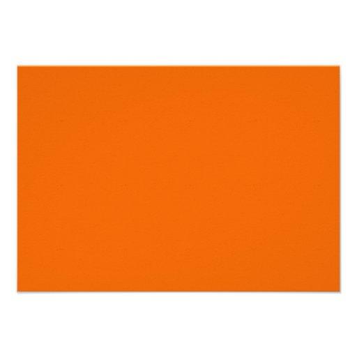 Orange Color RSVP Card Custom Invite