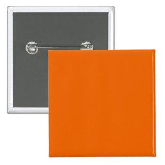 Orange Color Square Button Pinback
