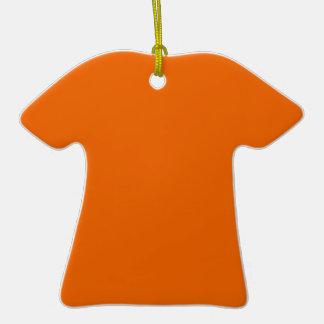 Orange Color T-Shirt Christmas Ornaments