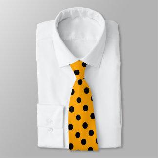 Orange Color With Black Dots Tie