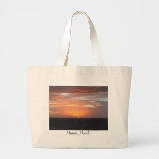Orange Colored Sky Tote Bag