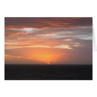 Orange Colored Sky Greeting Cards