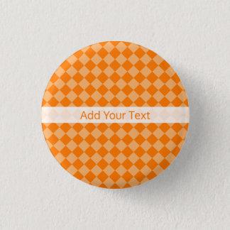 Orange Combination Diamond Pattern by STaylor 3 Cm Round Badge