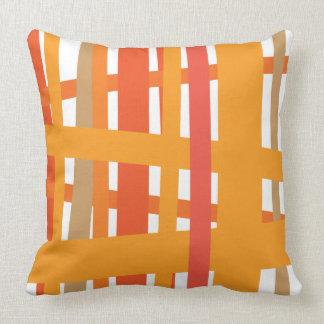 ORANGE CRAZY LINES DESIGN Retro Throw Pillow