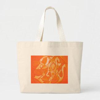 Orange Crush Abstract by  Kara Willis Tote Bag