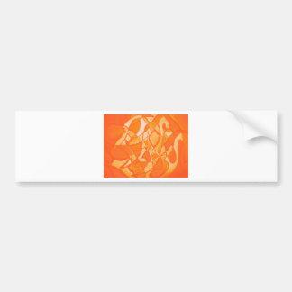 Orange Crush Abstract by  Kara Willis Bumper Sticker