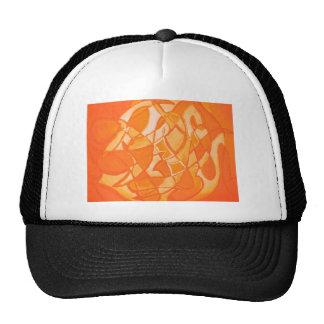 Orange Crush Abstract by  Kara Willis Cap