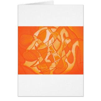 Orange Crush Abstract by  Kara Willis Greeting Card