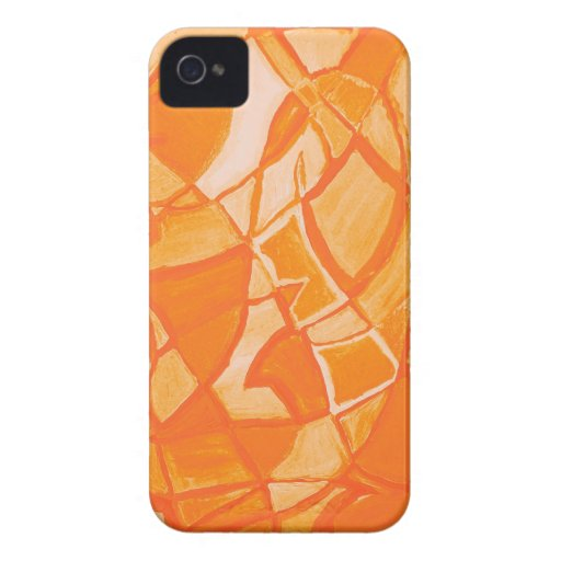 Orange Crush Abstract by  Kara Willis iPhone 4 Case-Mate Cases