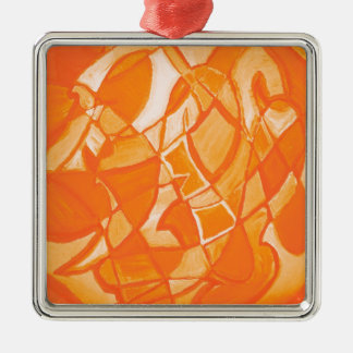 Orange Crush Abstract by  Kara Willis Christmas Tree Ornament
