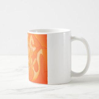 Orange Crush Abstract by  Kara Willis Basic White Mug