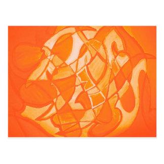 Orange Crush Abstract by  Kara Willis Post Cards