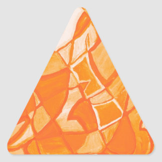 Orange Crush Abstract by  Kara Willis Stickers