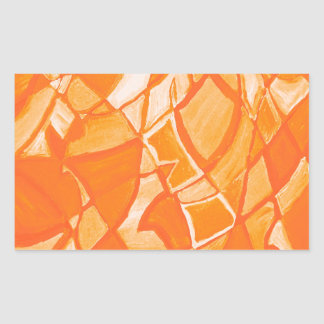 Orange Crush Abstract by  Kara Willis Rectangle Stickers