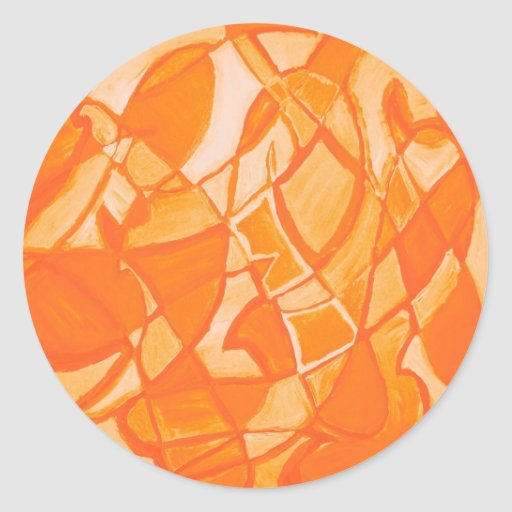 Orange Crush Abstract by  Kara Willis Sticker